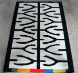 The carpet Tjuga. handmade in wool and linen. Design Elisabeth Johansson.
