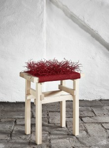 Twistin. Stool in red